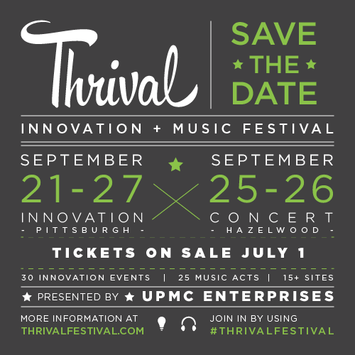 We can't wait for @ThrivalFestival! Tickets on sale tomorrow! #Pittsburgh http://t.co/plgYIHwNDA