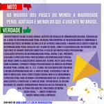 Na maioria dos países do mundo a maioridade penal adotada NÃO É MENOR do que a vigente no Brasil. #VotoContra171 http://t.co/ktULY7u5OH