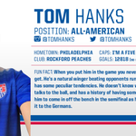We dont see him in the starting lineup, but @ussoccer did make #USWNT superfan @tomhanks an honorary team member. http://t.co/ilClV2PsrI
