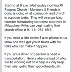 Transit help during the #MCTSstrike #Milwaukee @RevJerbi @allpeepschurch http://t.co/pJylG3LO4h