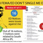 Notice #7 of 11 - Out of 16 notices, 11 were from South Africa #IPL #Lalitgate http://t.co/QxAbpC6ZHQ
