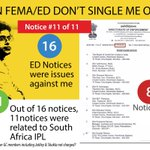 Notice #11 of 11 - The eleventh and final notice from ED on the South Africa IPL issue. #Lalitgate http://t.co/PCI0QGp8nw