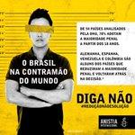 O Brasil não pode andar na contramão do mundo! #ReducaoNaoESolucao #VotoContra171 #EquipeMargarida http://t.co/8c13sVyrf9