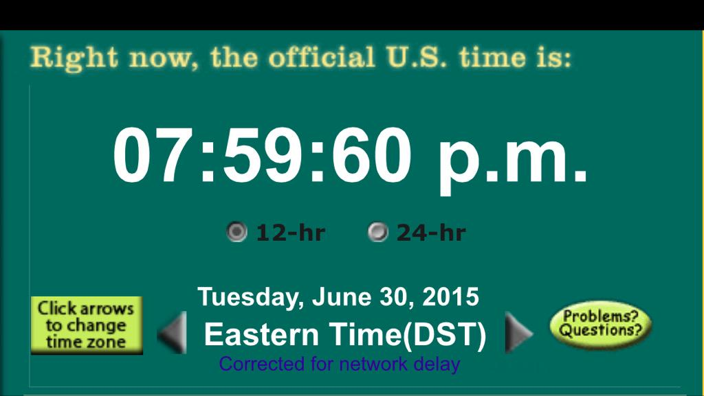 AMERICA, I GIVE YOU YOUR LEAP SECOND!!! (Background: http://t.co/LqgpLExcZb) http://t.co/6VXEAJHxqh