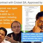 Contract CricketSA again ratified on 2/9/09 by 11 members including Jaitley&Shukla. Why werent they issued notices? http://t.co/OCLqmqgEwC