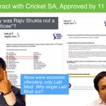 Contract with CSA okayed by 11 members. Why isn't RajivShukla not one of the noticees? None economic offenders?