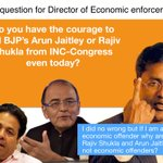 My query to the ED: DO you have the courage to call BJPs #ArunJaitley or #RajeevShukla from INC-Congress even today? http://t.co/cp3gFIkDkn