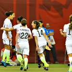 #USWNT celebrating @CarliLloyds penalty kick to put them ahead. #USAvGER 1-0, 75 http://t.co/6h1o4cVgTP