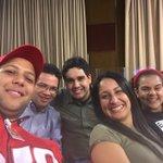 #ContactoConMaduroNro33 con mis camaradas @DanielPSUV @CesarTrompiz @GabyPSUV @rodbexa. JóvenesXElLegadoDeChávez. http://t.co/XyhMXvQnjO
