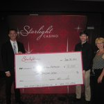 We want to extend a HUGE thank you to @StarlightCasino for their very generous donation of $2000! #newwest http://t.co/INeaOZvar3