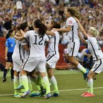 On to the World Cup final!  The USA knocks off top-ranked Germany 2-0; will play for the title Sunday. #USAvGER http://t.co/NsorqKw5Fv