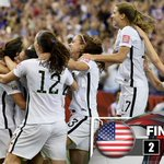 THE #USA IS IN THE FINAL! Lloyd & OHara score as the #USWNT is now one win away from its goal! #FWWConFOX #USAGER http://t.co/zX05BIUd2R