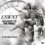 RT BleacherReport: #USWNT beats Germany 2-0 with goals from Lloyd (69') & O'Hara (84')! They face winner of Englan… http://t.co/9hufnoVd65