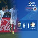 #ARGxPAR ¡Final del partido! ¡Estamos en la final! #Argentina dio una clase de definición y ganó 6-1 ante #Paraguay. http://t.co/amCwZJlW1W