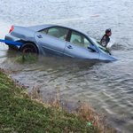 Elderly man hits wrong pedal and drives into a Lake #BocaRaton today & two security guards jumped in and rescued him. http://t.co/6DCfh2gxxE