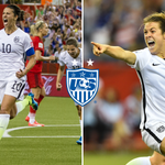 .@CarliLloyd and @kohara19 rocking their #GoalFace after putting the #USWNT into the @FIFAWWC Final! #SheBelieves http://t.co/GTRUgN0oNL