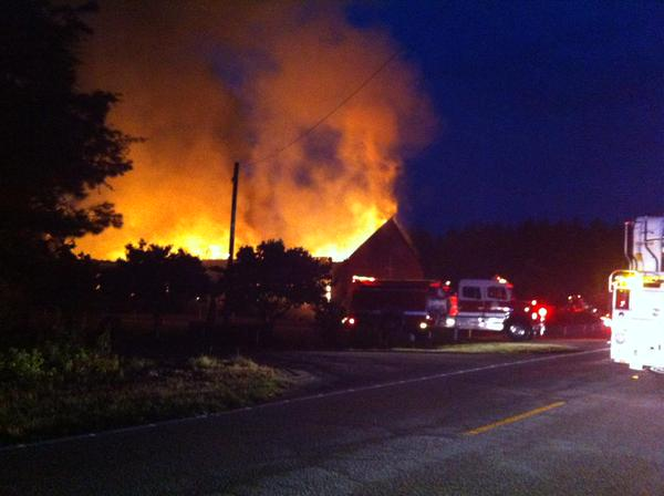 Mt. Zion AME is burning. 7th Black church this week. #WhoIsBurningBlackChurches http://t.co/ExtuAQ60Nx