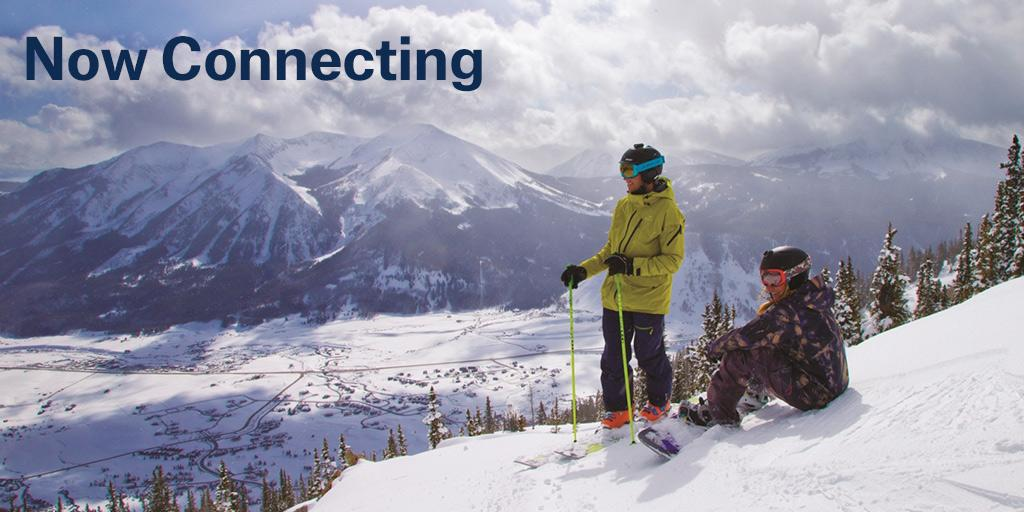 Explore our newest winter destination. Flights from LAX to Gunnison/Crested Butte start Dec 16