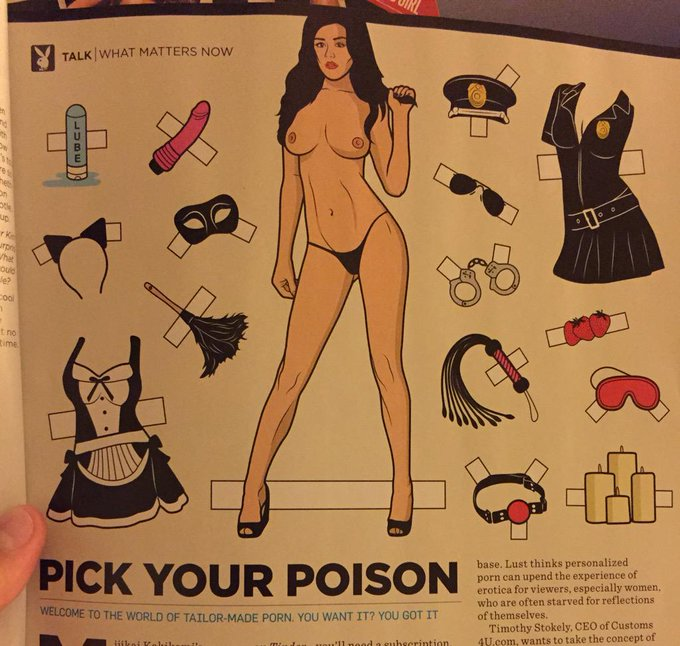 The cartoon model in the @Playboy magazine  this month kinda looks like me!!!!! #Playboy #StefanieKnight