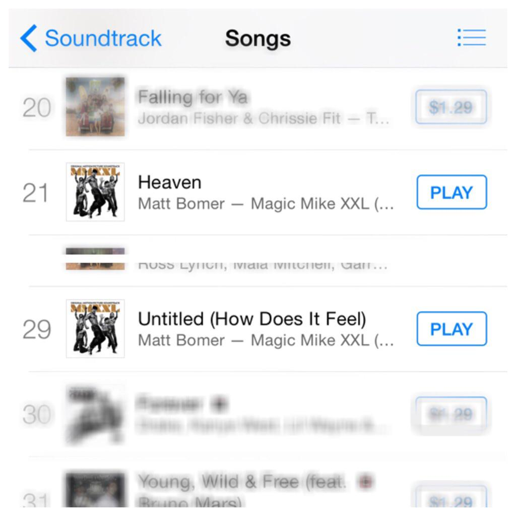 @MattBomer @magicmikemovie Congratulations! Your songs are among iTunes' Soundtrack Top 50 in just one day