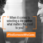 Q1: When it comes to selecting a life partner what matters the most to you ...Use #FindSomeoneWhoCares Ends 10.10 am http://t.co/P4nB0heHw5