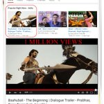 POPULAR ON @YouTubeIndia & 1 MILLION Views For Baahubali Dialogue Trailer ????#BaahubalionJuly10th #BaahubaliStormMonth http://t.co/x2qKW0oBsp