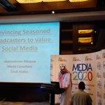 Conferinta #Media2020 de la #bucuresti a capatat datele unui eveniment global: Abdulrahman Albazzaa/Arabia Saudita http://t.co/MJO6UWGizo
