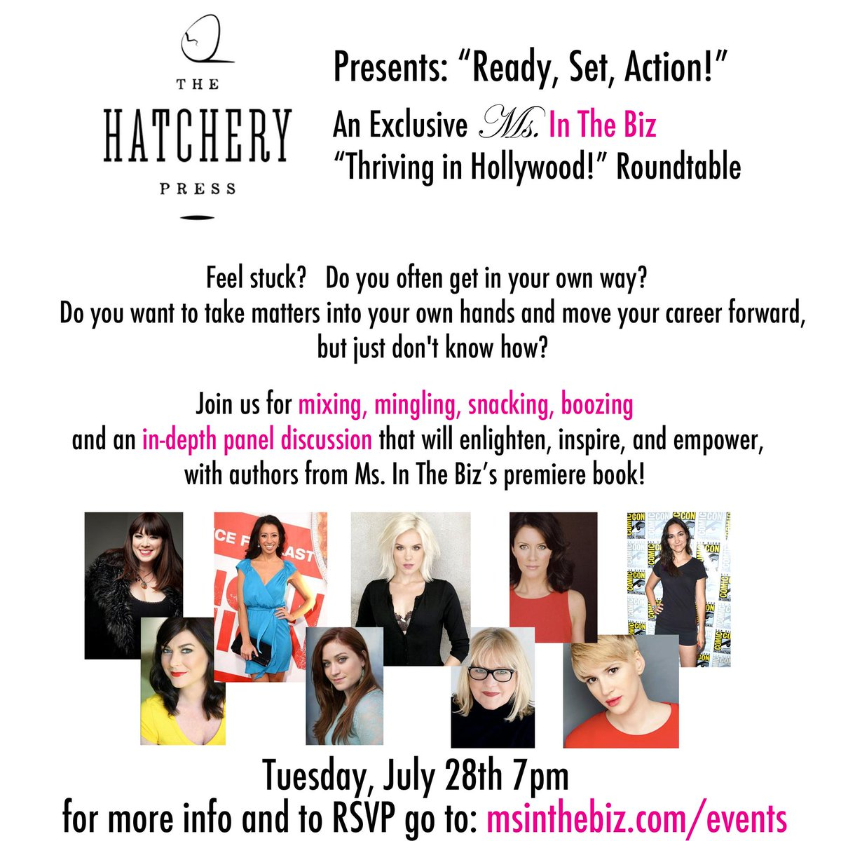 ACTORS: Come to this EPIC @msinthebiz panel! #networking & knowledge bombs! http://t.co/oxkL9W76CC cc: @ActorsAccess http://t.co/FsPhGqfBsa