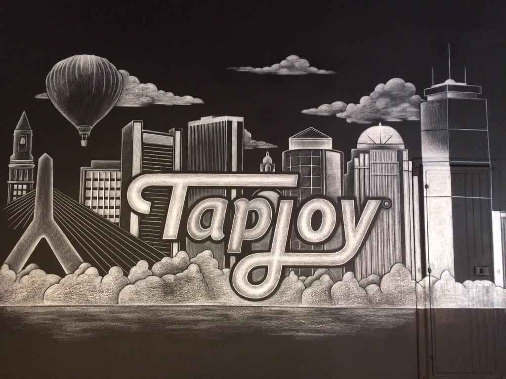 Check out the amazing new chalk mural at @TapjoyBoston by @ChalkGrrrl http://t.co/XzQ24q5zXY