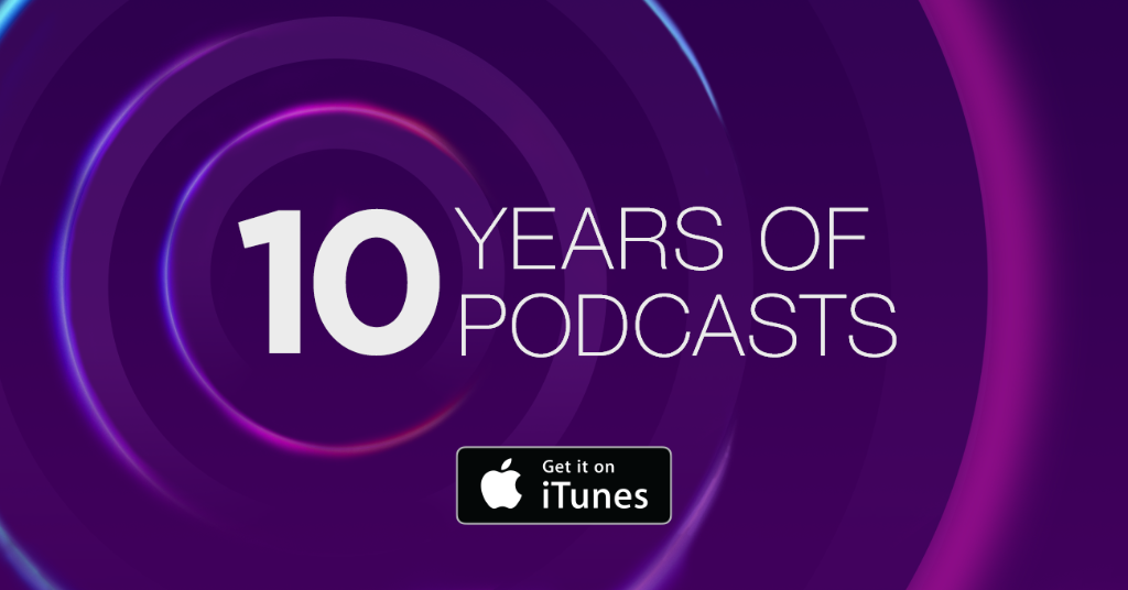 We're celebrating #10YearsOfPodcasts on iTunes! http://t.co/w22Xbe2CeM http://t.co/AtYNDHScPn