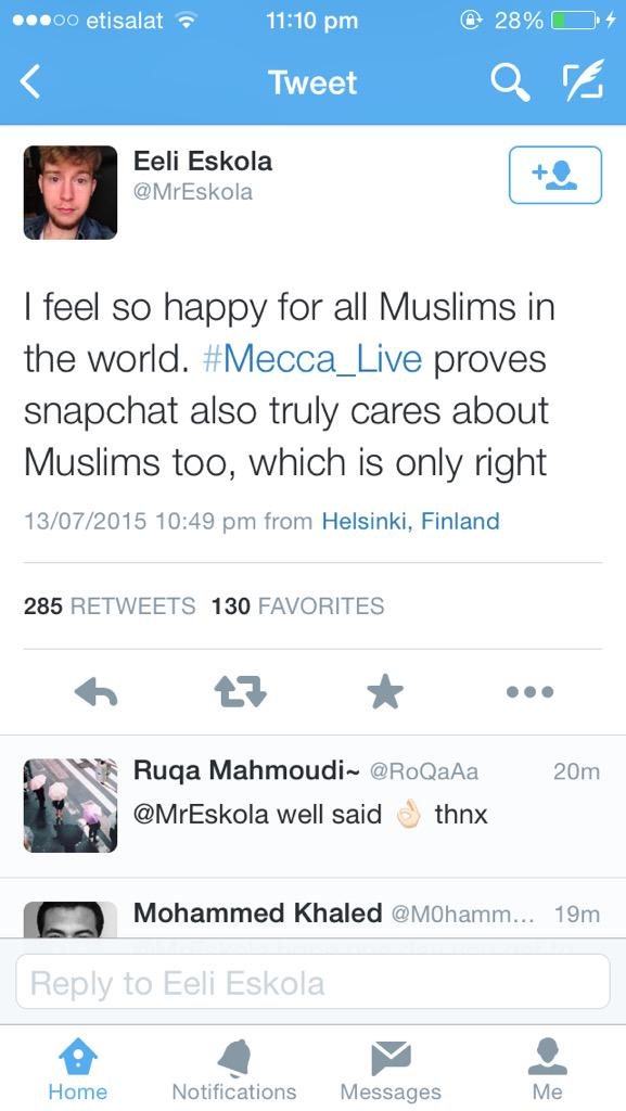 Some of the non Muslims' reactions to #mecca_live. This warms my heart. http://t.co/phKOtSGSdz