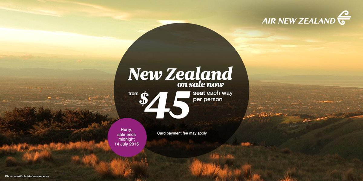New Zealand is on sale today. Hurray!