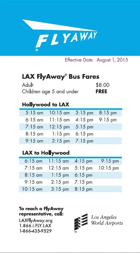 [PIC] LAX FlyAway® at Hollywood has a new schedule, effective August 1st . Deets: