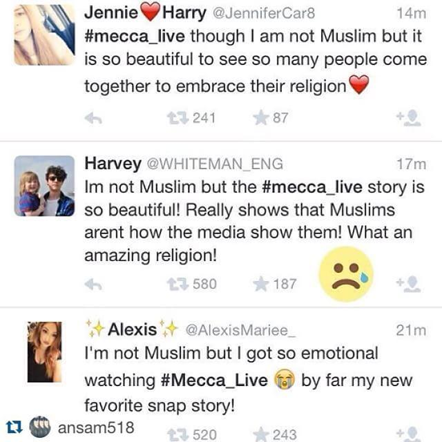 Some of the responses to #Mecca_live on twitter. We're loving how technology can reshape p… http://t.co/cEFEpTuv0Q http://t.co/S0prlgTBud