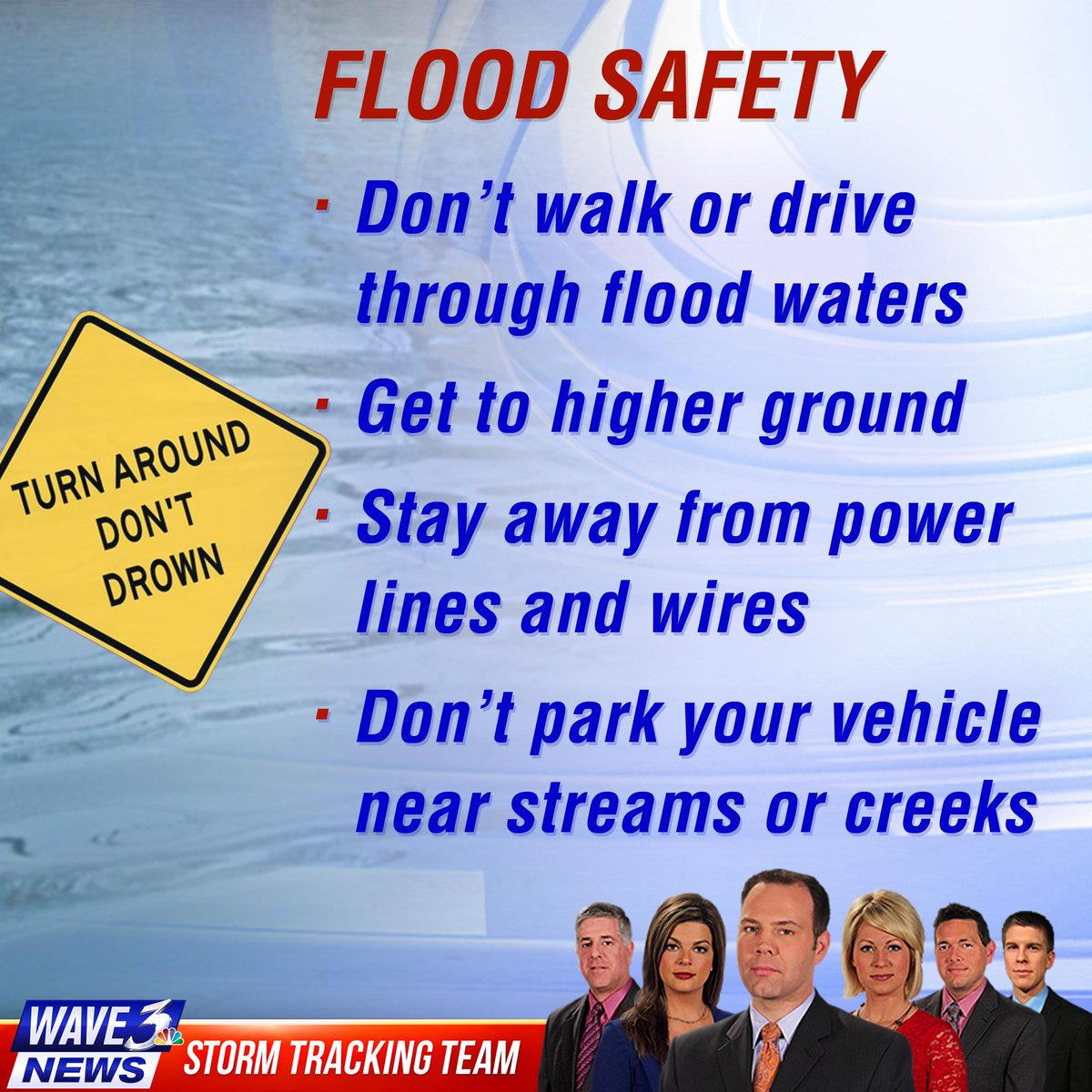Rt these #flood safety tips! next on #wave3news, we'll ...