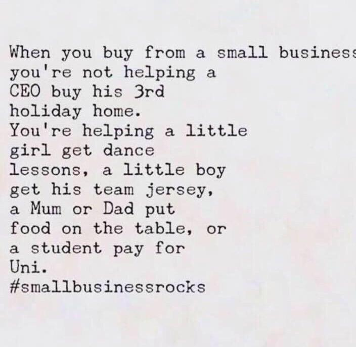 Both my parent's have small businesses so I couldn't agree more! ☺️ http://t.co/MKso7C5RDl