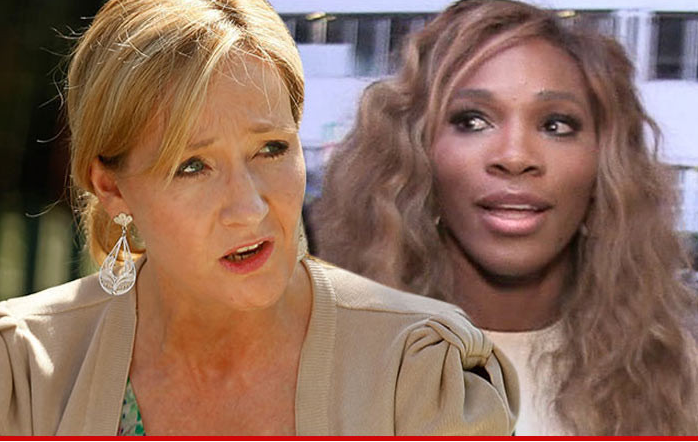 J.K. Rowling -- DETROYS SERENA WILLIAMS HATER ... She's Beautiful, You Moron!