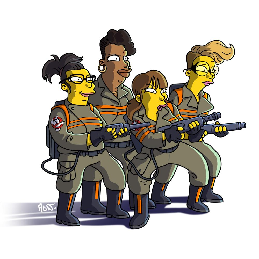 New Ghostbusters team #Simpsonized —> http://t.co/9YmpJrpTj7 #whoyougonnacall @paulfeig http://t.co/ZybdF22qQV