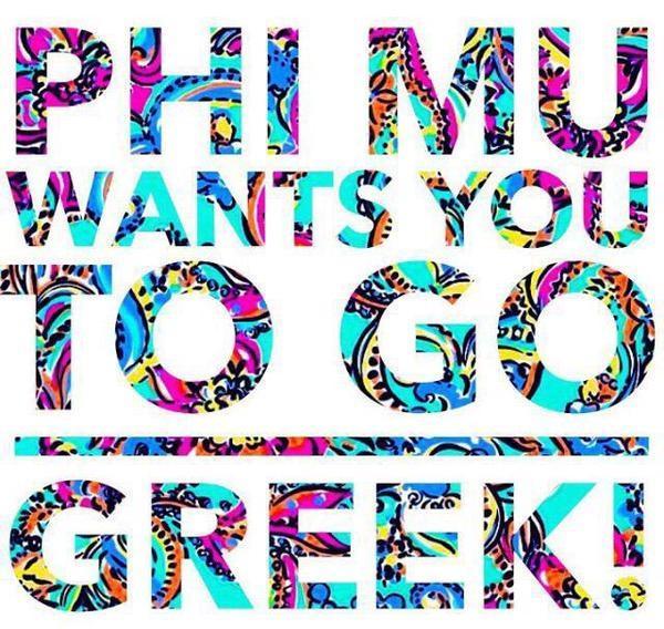 Phi Mu wants YOU to < Go Greek!> #PhiMu http://t.co/eg1qwNzT6z