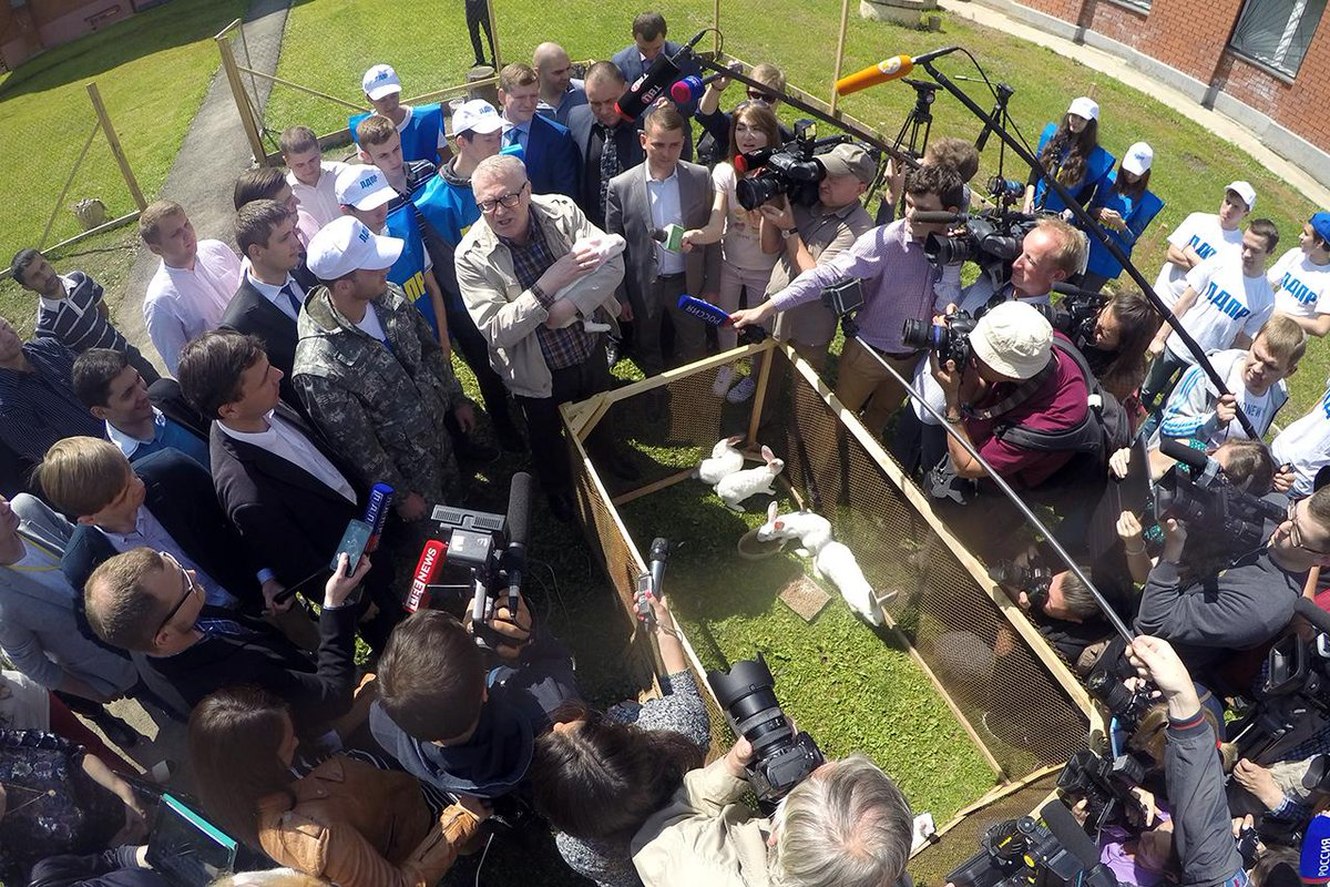 Из Смоленска привезли в подарок кроликов. На примере своей фермы показал, как ускорить импортозамещение http://t.co/h0VzCazBWp