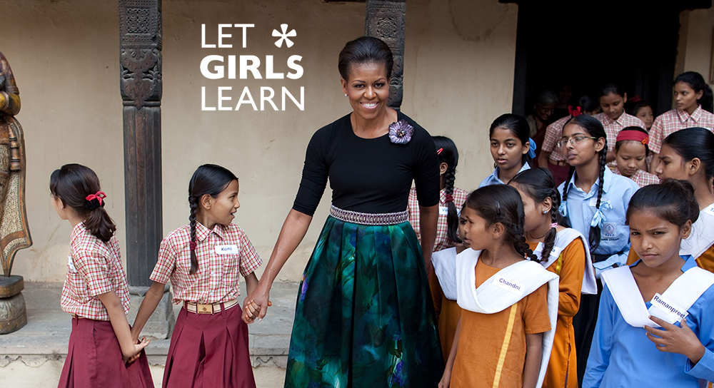 Education is the first step to eliminating discrimination and gender inequality worldwide. #LetGirlsLearn @FLOTUS http://t.co/XDuJtjhcUf