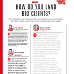 RT @thehoneyagency: Check out @meghanhoney's blurb in @netmag about how to land a big client! #marketing #design http://t.co/Zn2z5VhBCh