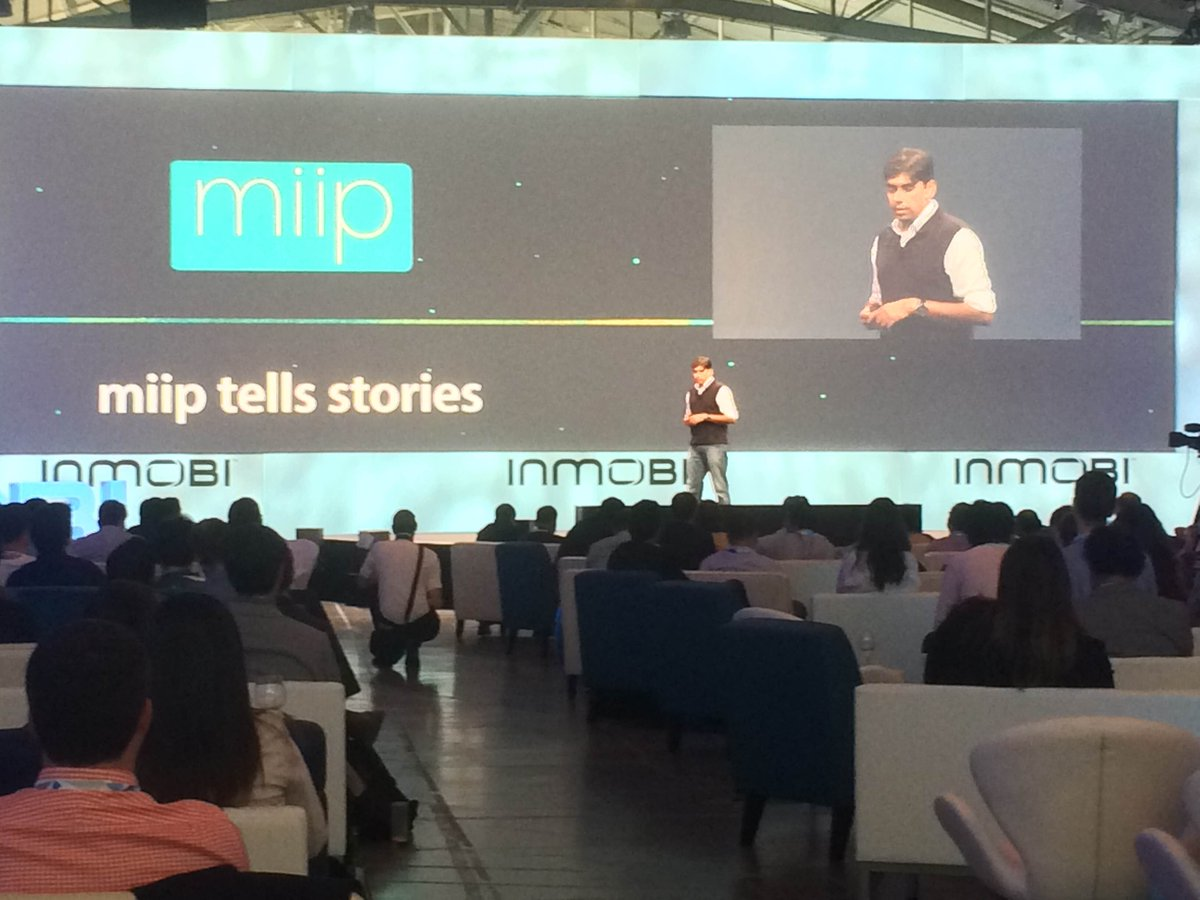 """""""Miip converts advertiser propositions into stories for consumers to enjoy"""" - @NaveenTewari at #InMobiReimagine http://t.co/bxZ8FQbNtC"""