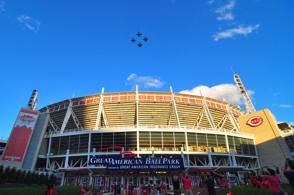 An All Star Flyover! #ASG @Enquirer http://t.co/7TRmGgrwuV