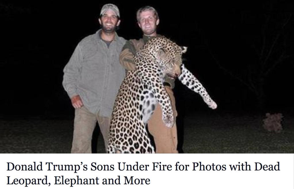 Just in case you had any doubt the Trumps are disgusting human beings http://t.co/MJzfSaLyLN