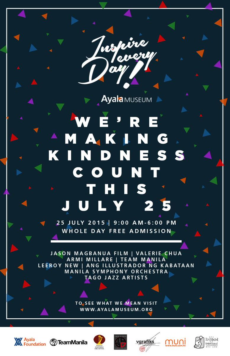 We're making kindness count! #InspireEveryDay this July 25! FREE ADMISSION TO THE MUSEUM Y'ALL! http://t.co/l2FenEX0qL