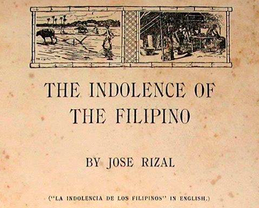 the indolence of the filipinos by rizal