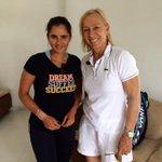 RT @WTA: .@MirzaSania & @Martina at Sania's Tennis Academy for #WTA Future Stars Tennis Masterclass #SheratonHyderabad http://t.co/wezaaLcA…