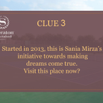 RT @SheratonHyd: Clue3: Started in 2013, this is @MirzaSania's initiative towards making dreams come true.  #SheratonHyderabad http://t.co/…