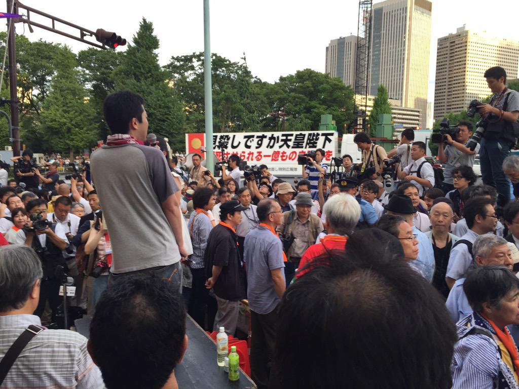 国会前デモに播磨屋トレーラーが参戦 極右と共産党が手を取り合う夢のタッグが実現へ